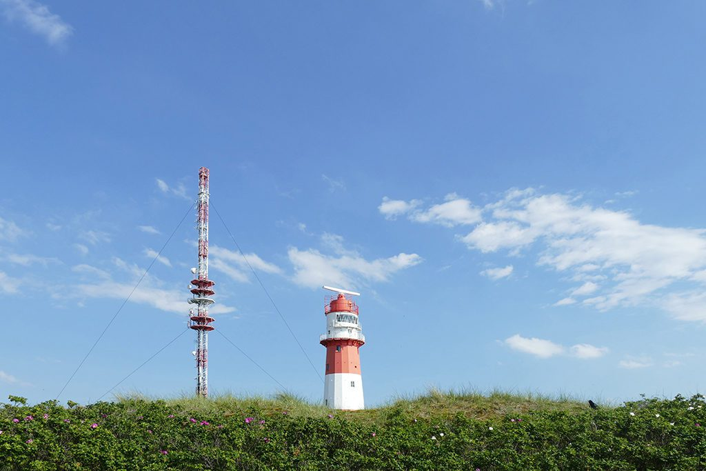 The electric lighthouse of Borkum