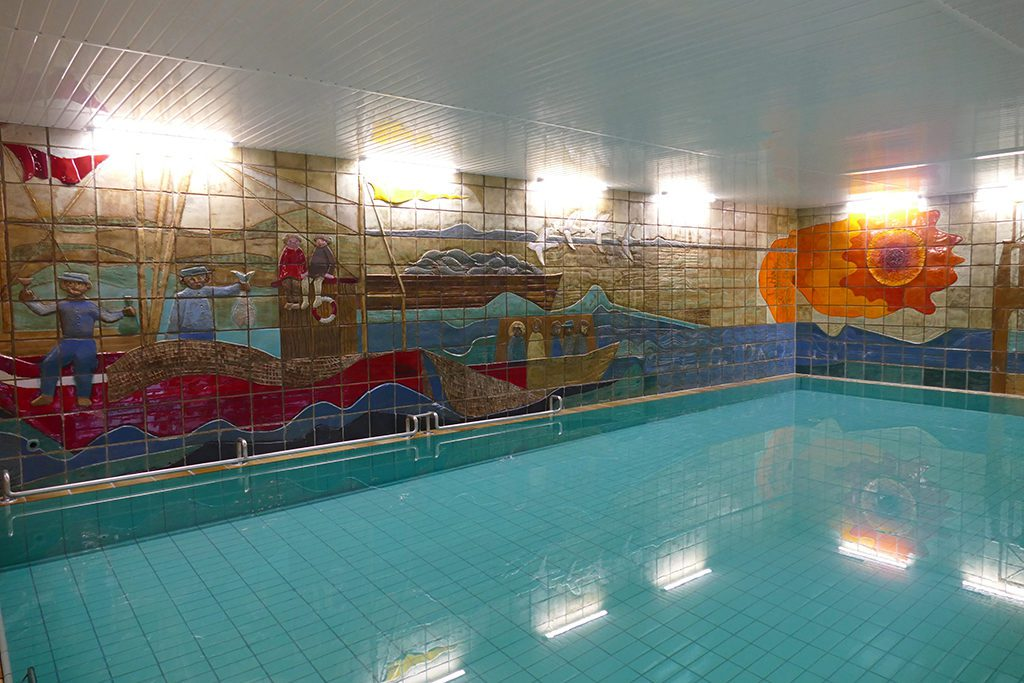 Indoor pool at the Hotel Miramar on Borkum