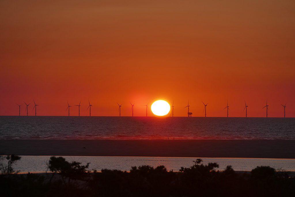 Sunset over Borkum