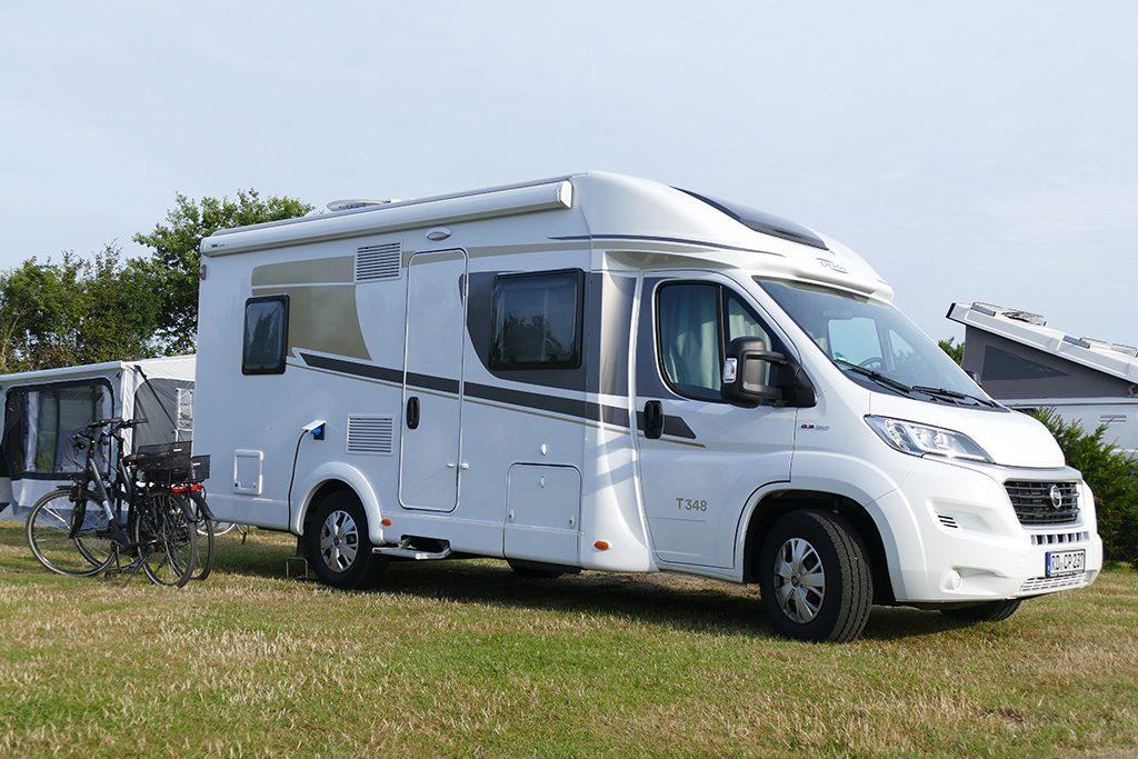Camper Van on the Island of Fehmarn