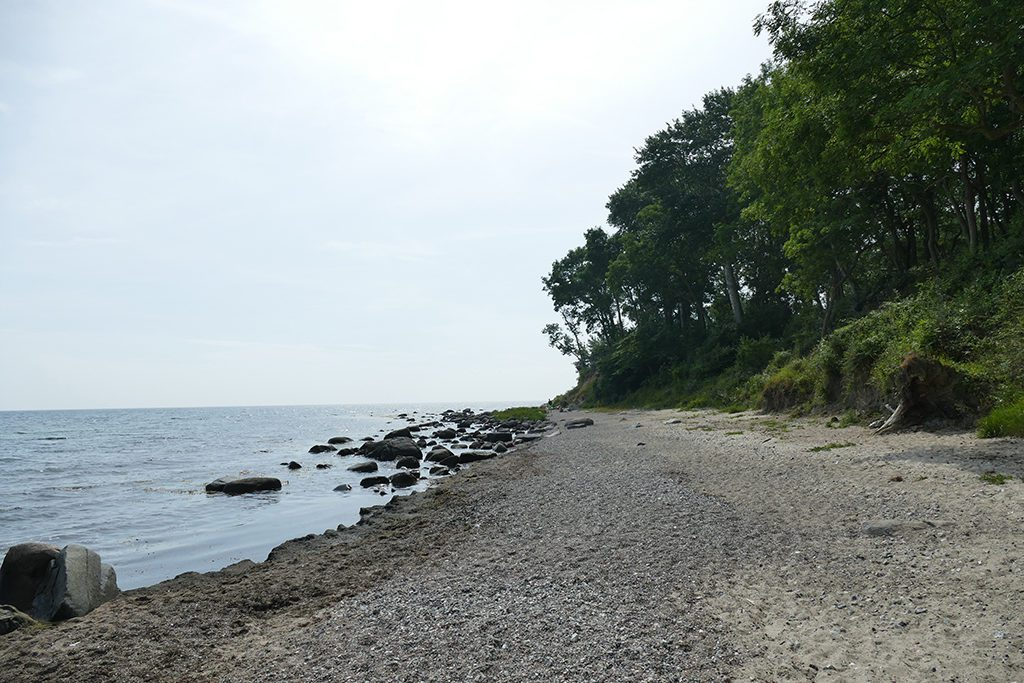 The rocky and pebbly beach in Fehmarn's east.