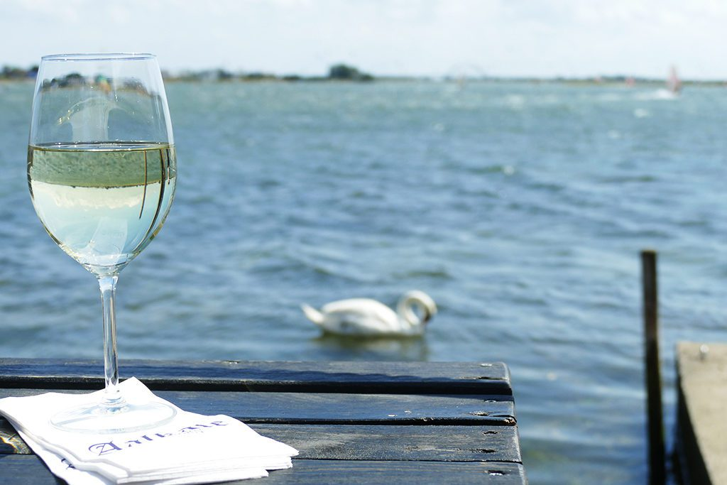 The Baltic Sea reflected in a Glass of White Wine