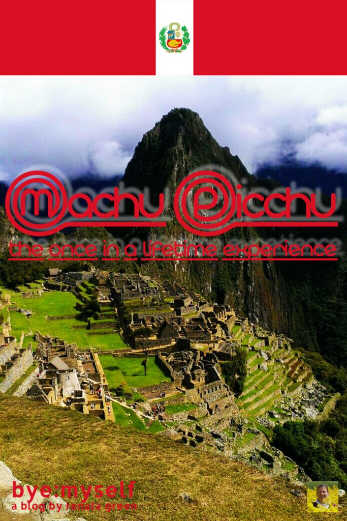 Pinnable Picture on the Post on Machu Picchu