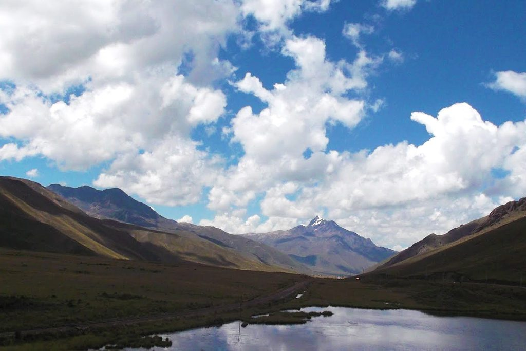 View of Mount Chimboya from La Raya