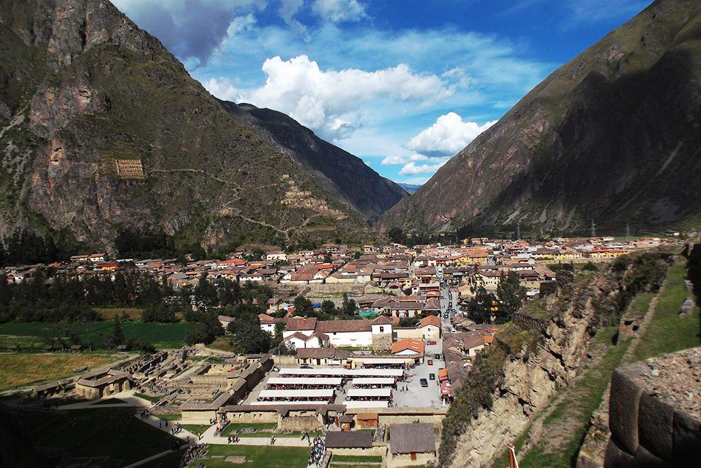 View from the former Inca fortress Ollantaytambo.