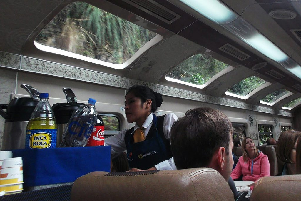 On the train from Ollantaytambo