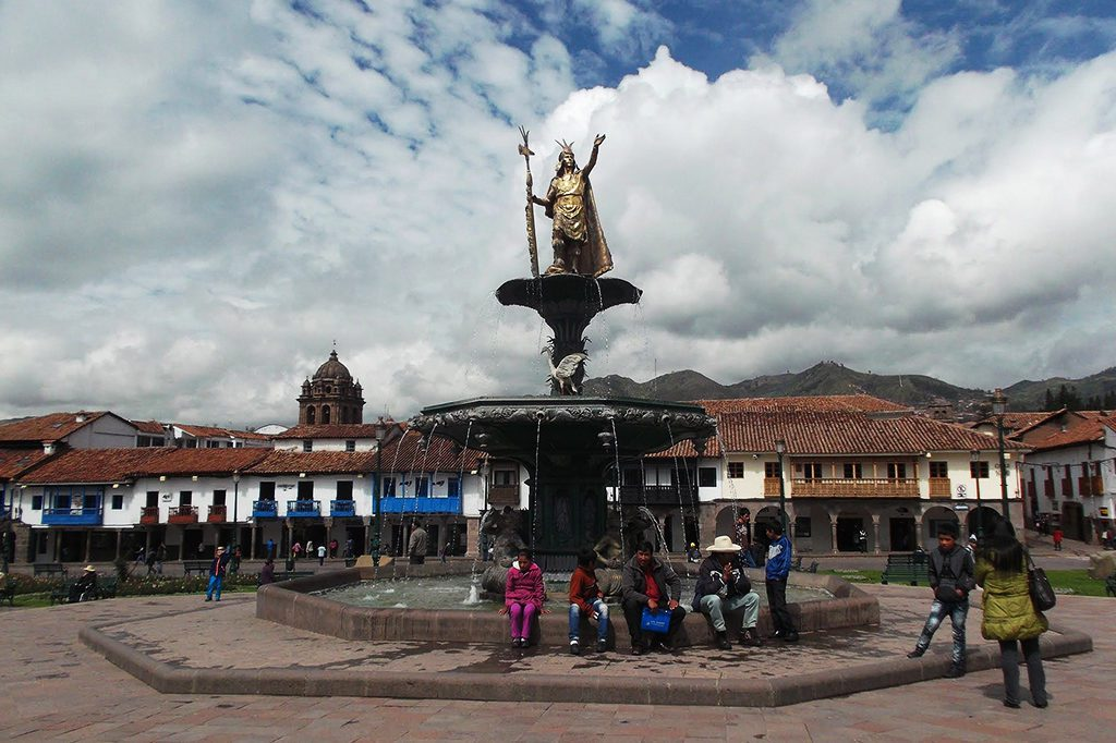 Pachacútec Yupanqui, overlooking the Plaza de Armas in Cusco
