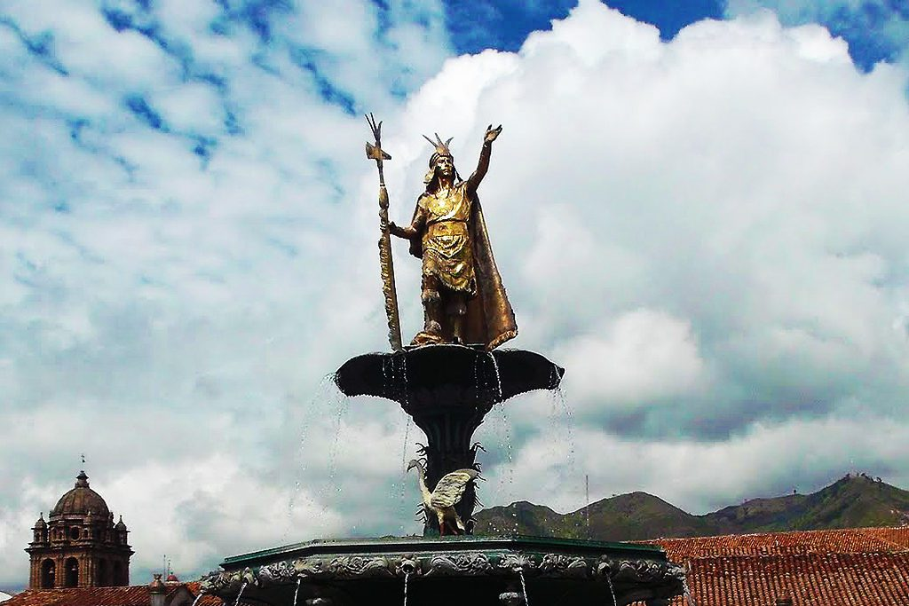 Pachacútec Yupanqui, overlooking the Plaza de Armas in Cusco