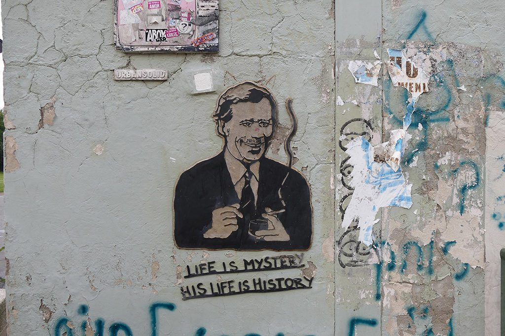 Graffiti of Václav Havel in Prague