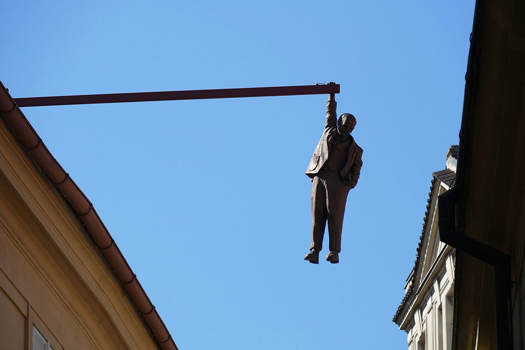 Man Hanging Out by David Cerny