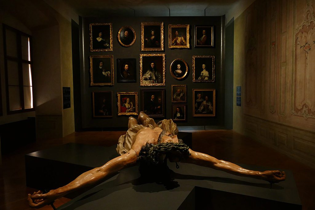 The Crucifixion by Matyáš Bernard Braun at the Schwarzenberg Palace in Prague