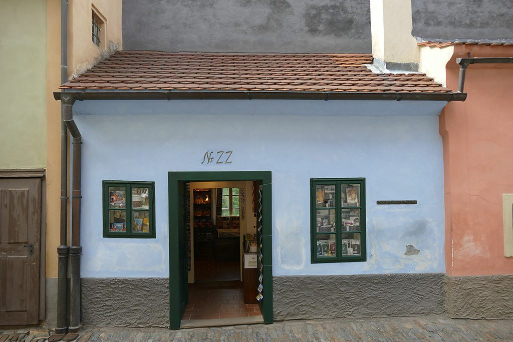 Franz Kafka's home between 1916 and 1917.