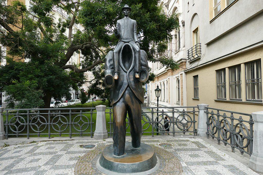 Statue of Franz Kafka by Jaroslav Róna.