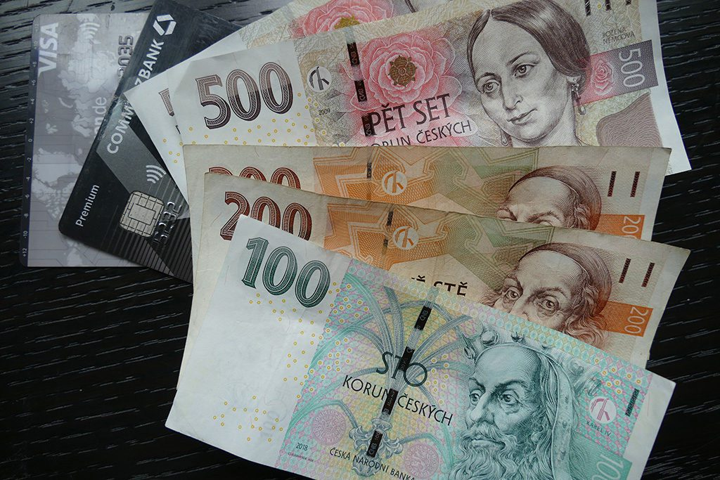Czech crowns and credit cards