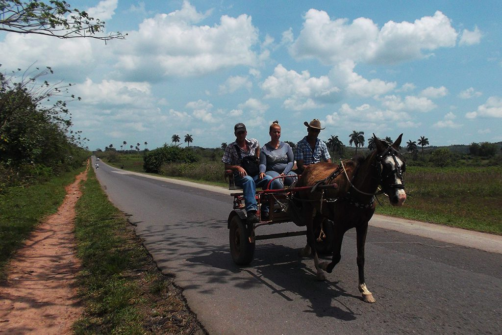 People in a carriage at Vinales, Cuba 's Rural Paradise