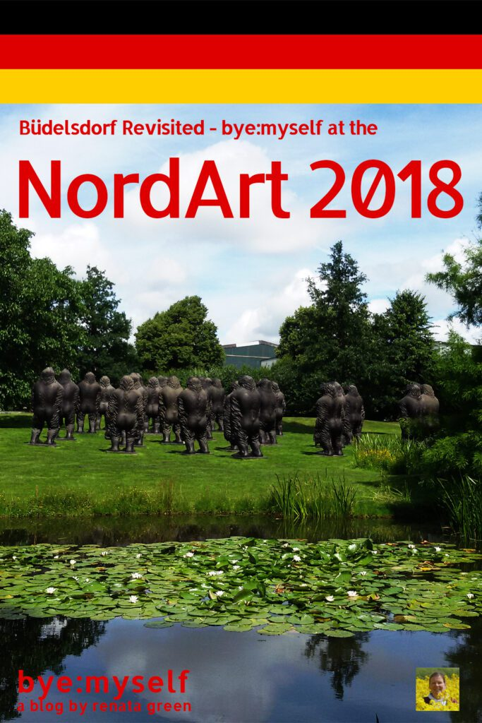 Pinnable Picture for the Post on Büdelsdorf Revisited - bye:myself at the NordArt 2018