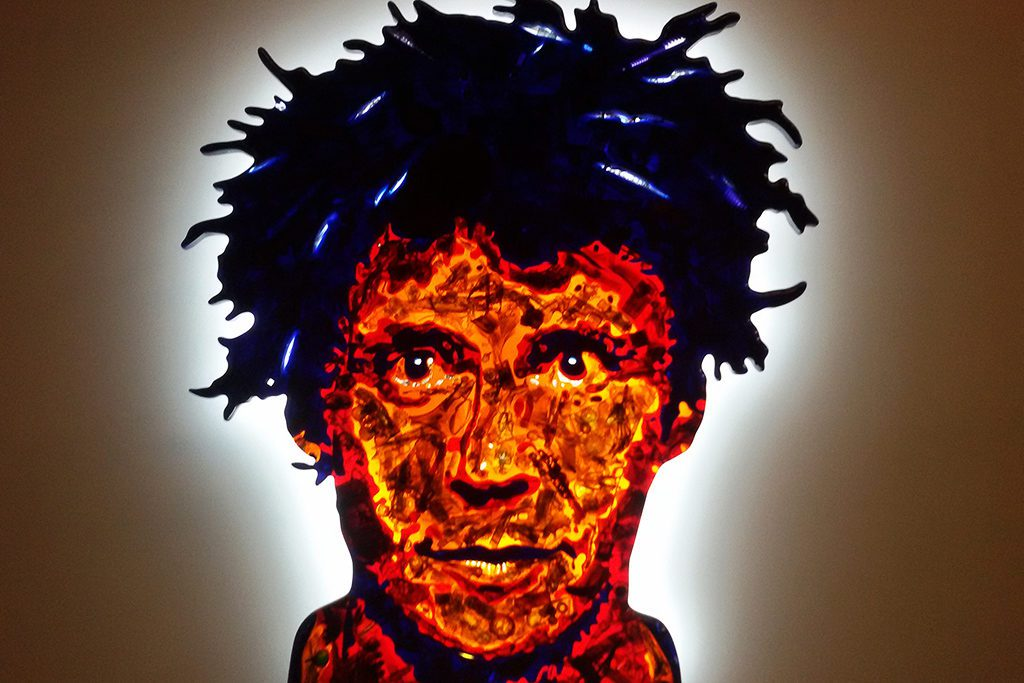 David Černý's self-portrait Černý from the series FACES