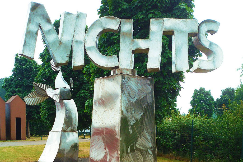 NICHTS by Klaus Gündchen, made from stainless steel in 2011.