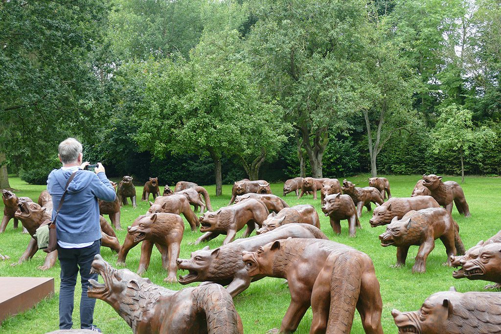 Liu Ruo Wang's Wolves Coming at the NordArt 2017 in Büdelsdorf