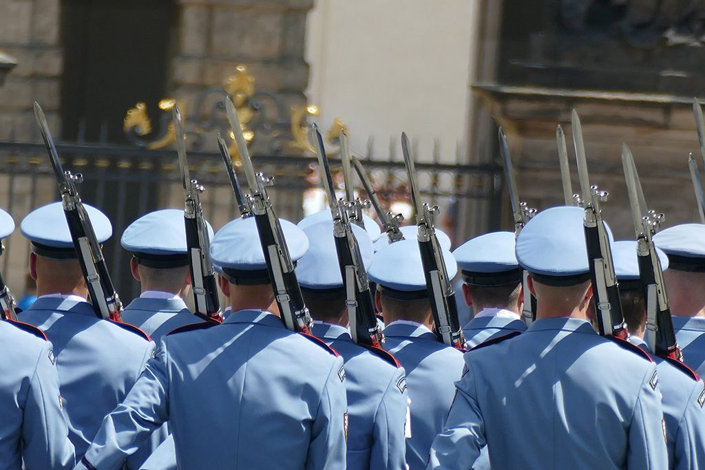 Changing of the guards on the Hradčany Square