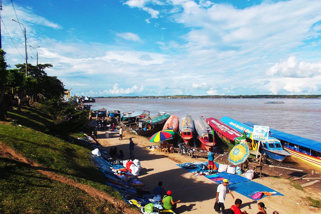 On the banks of river Ucayali that goes into the Amazon in Pucallpa.