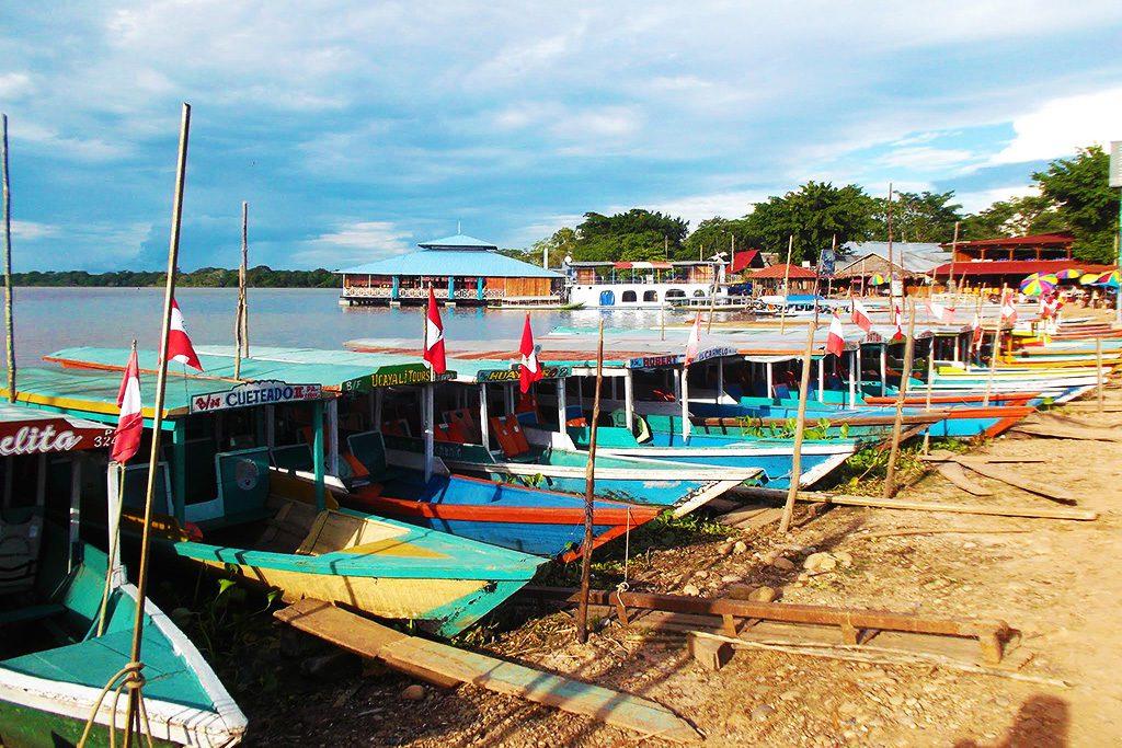 Boat at the Laguna de Yarinacocha.