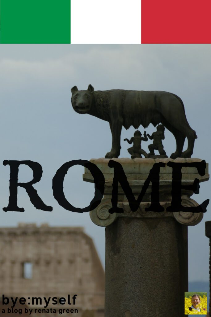 Pinnable Picture for the Post on ROME for first-timers, repeat visitors, and eternal admirers