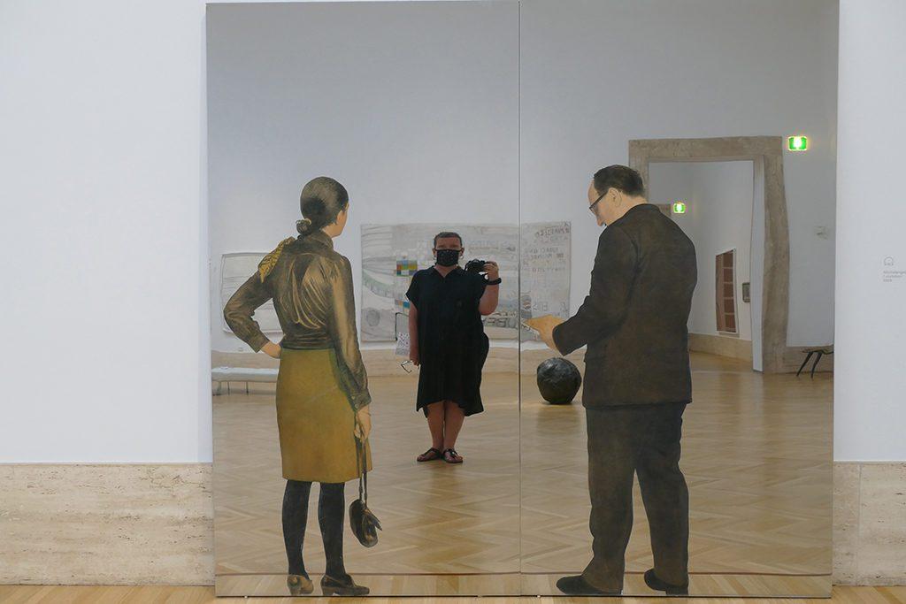 I Visitatori by Michelangelo Pistoletto at the GNAM in Rome.