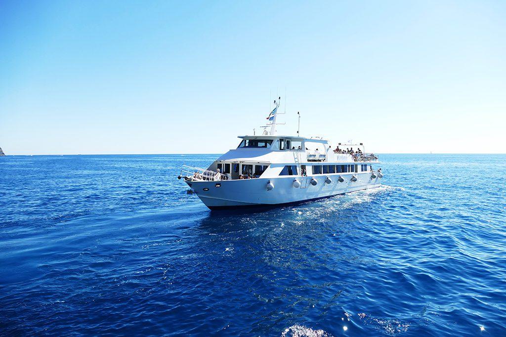 Ferry taking people from La Spezia via Porto Venere to each one of the Cinque Terre