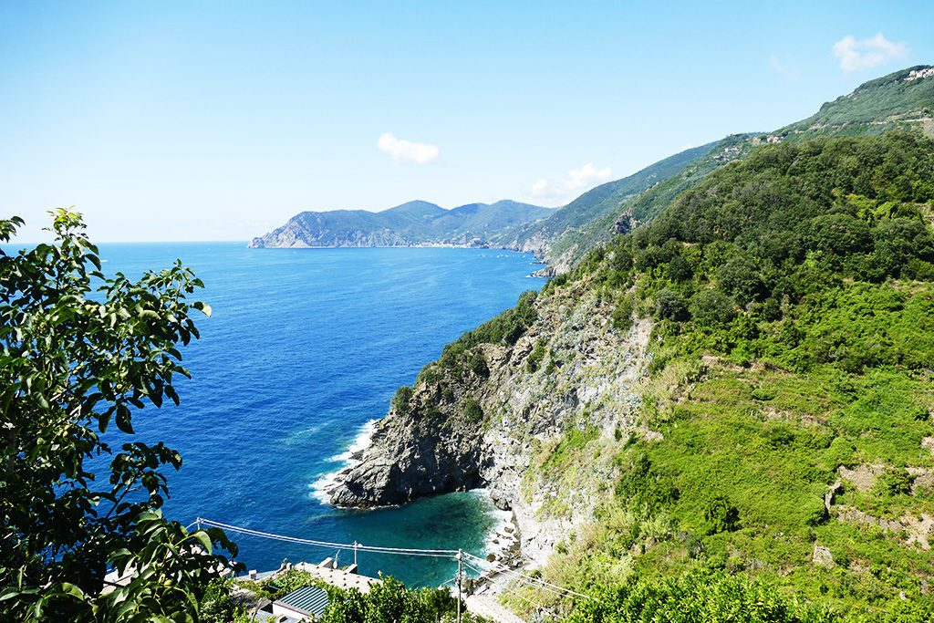 View of the Ligurian Sea from Corniglia, one of the CINQUE TERRE - The World's Most Picturesque Hiking Trails