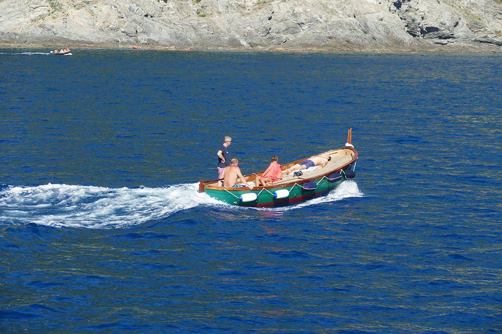 Boat off the coast of Monterosso al Mare