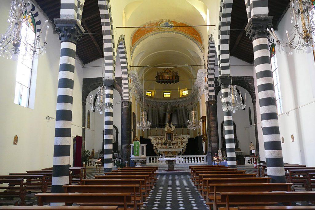 Inside  San Giovanni Battista in Monterosso al Mare