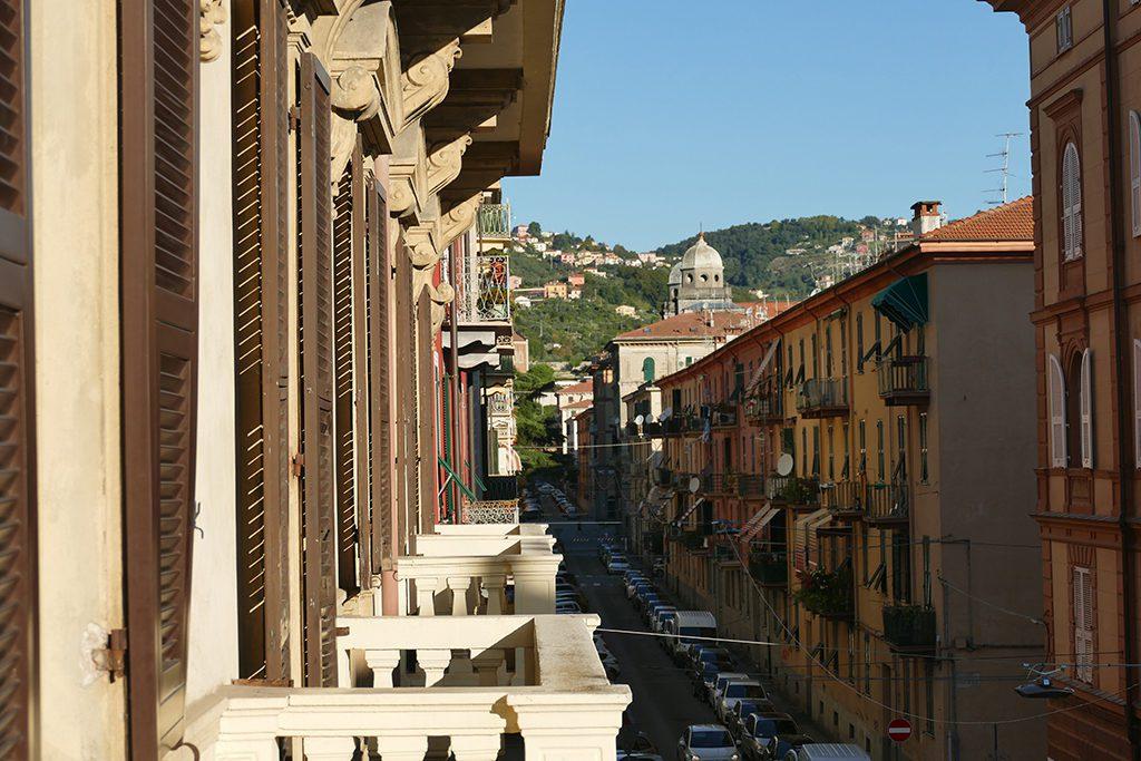 View of La Spezia from The Poet Hotel in La Spezia, the gateway to the Cinque Terre.