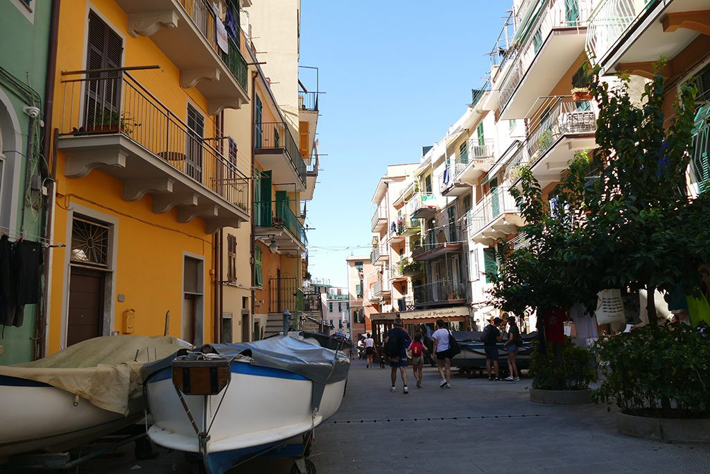 Manarola, one of the Cinque Terre along the world's most picturesque hiking trail