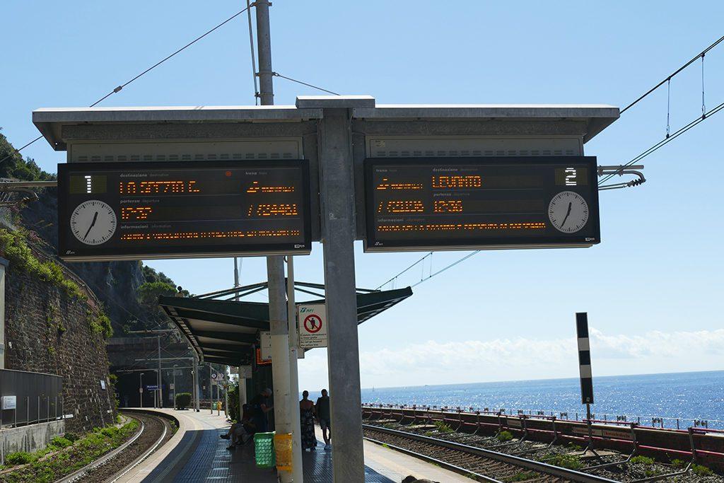 Trainstation of Corniglia, the central village of the Cinque Terre.