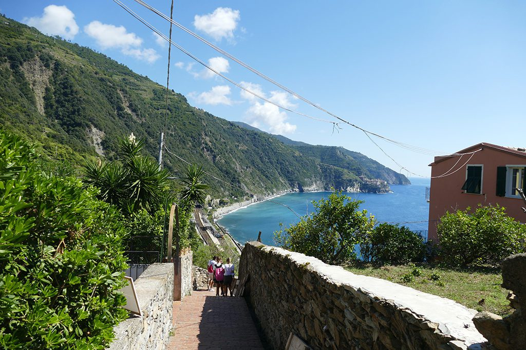 Steps from the train station to the village of Corniglia