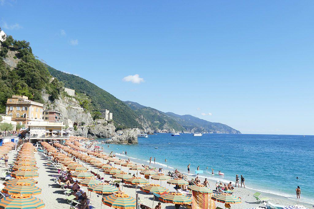 Beach at Monterosso al Mare.