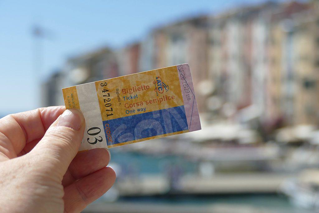 Ticket to beautiful Porto Venere.