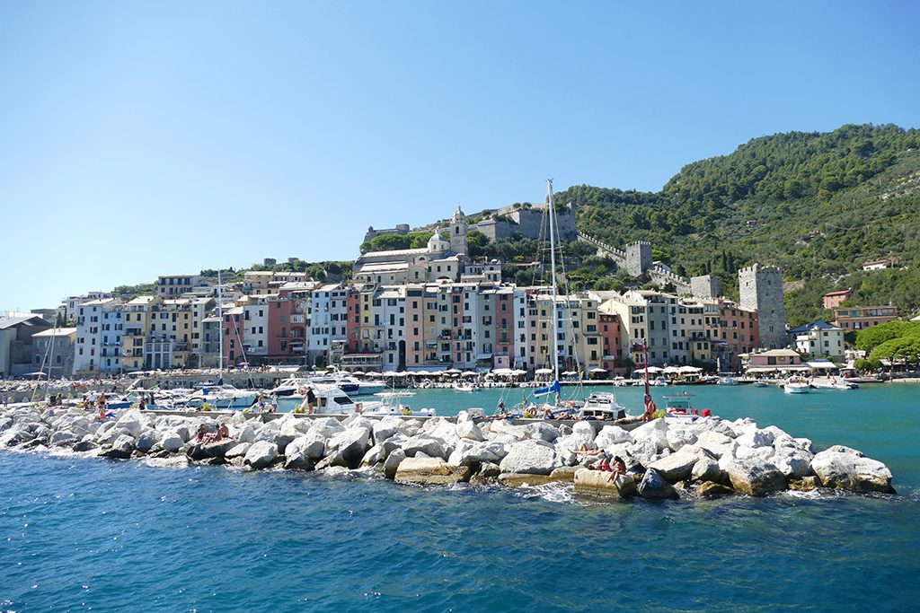 View of Porto Venere from the Sea.