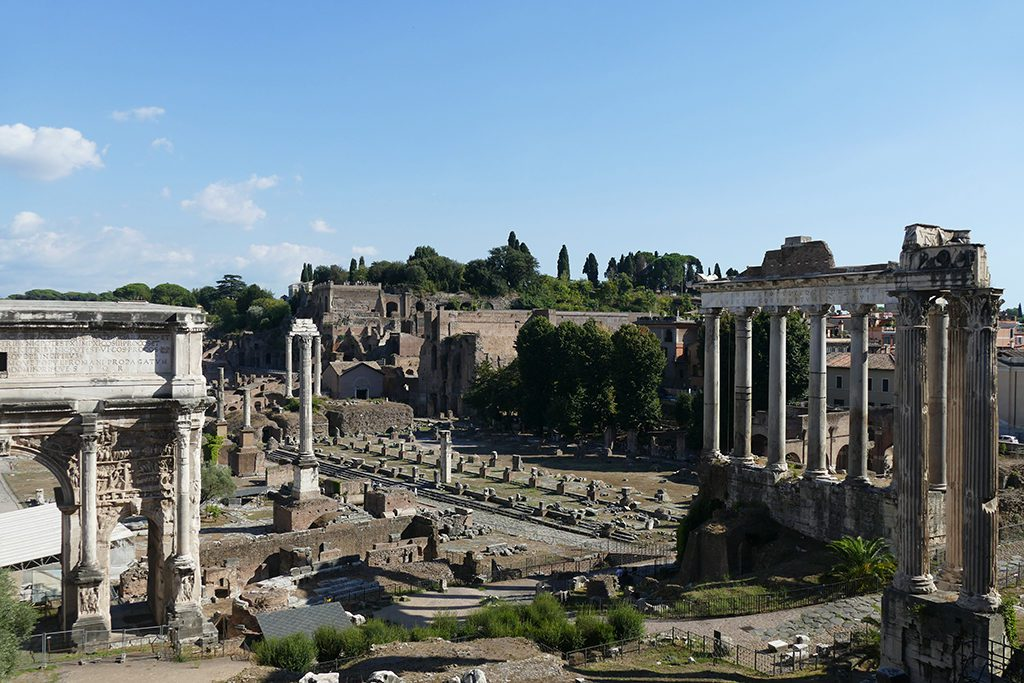The Forum Romanum in the center of Rome