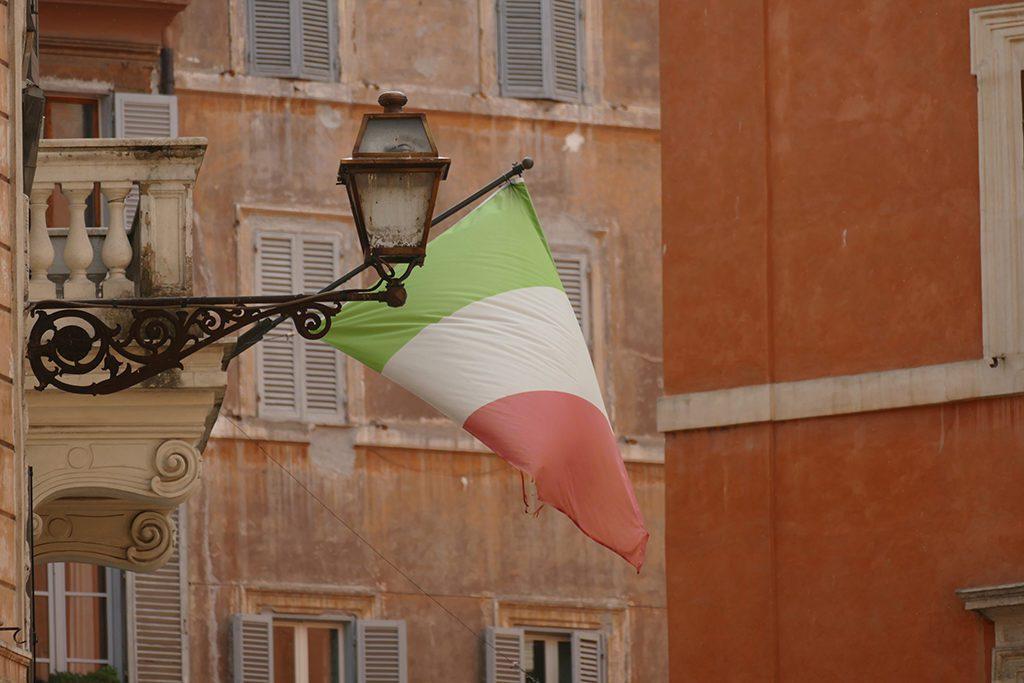 Italian Flag in Rome