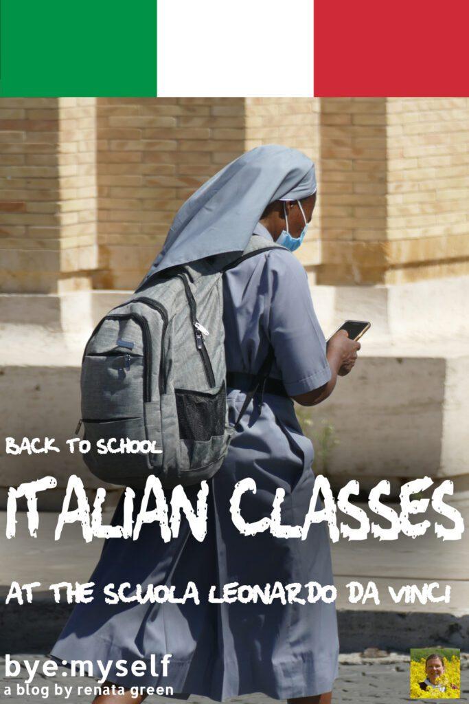 Pinnable Picture for the Post Back to School: Italian Classes at the Scuola Leonardo da Vinci in 2020