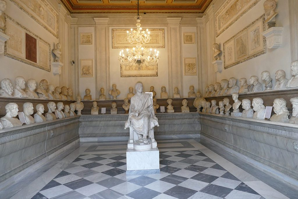 Sculptures at the Musei Capitolini