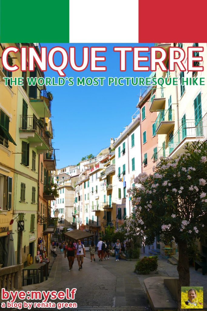 Pinnable picture on the post on CINQUE TERRE - The World's Most Picturesque Hike