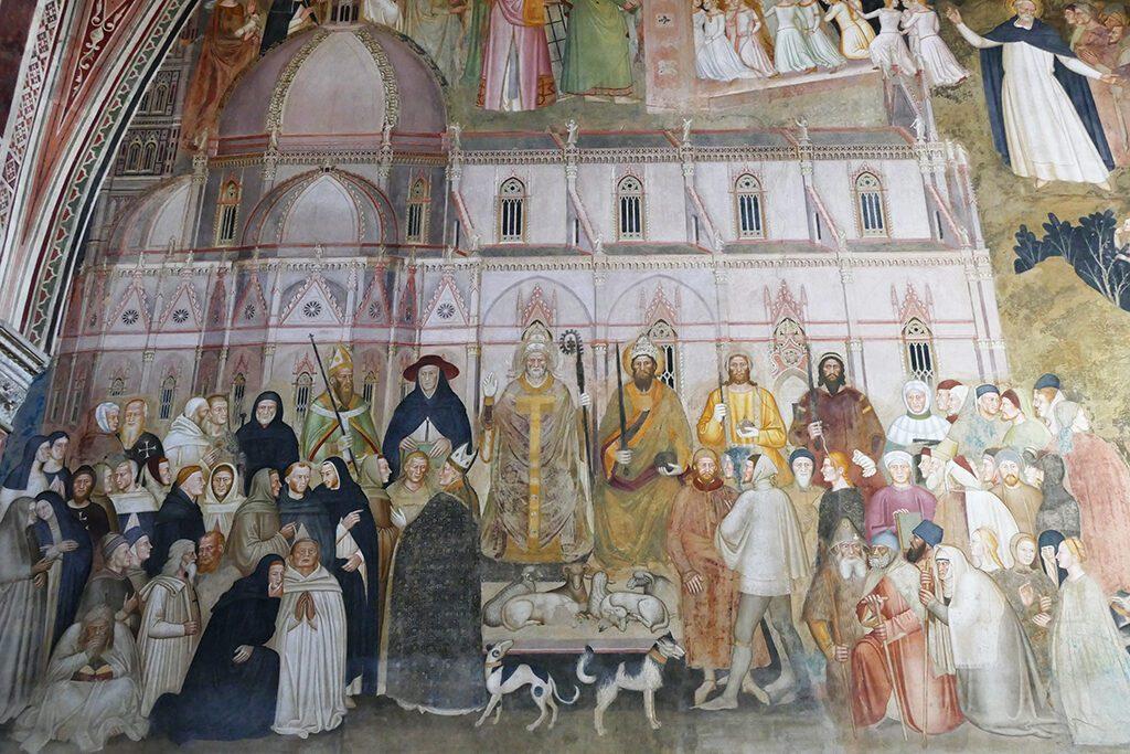 Frescoes at the Spanish Chapel of the Basilica of Santa Maria Novella in Florence
