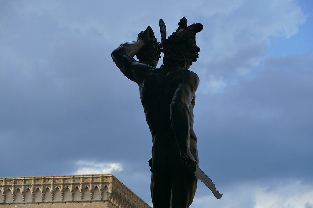 Perseus with the head of Medusa by Benvenuto Cellini at the Loggia dei Lanzi in Florence