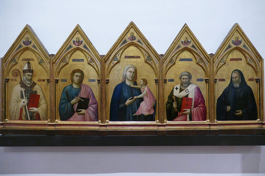 Badia Polyptych painted by Giotto di Bondone around 1300