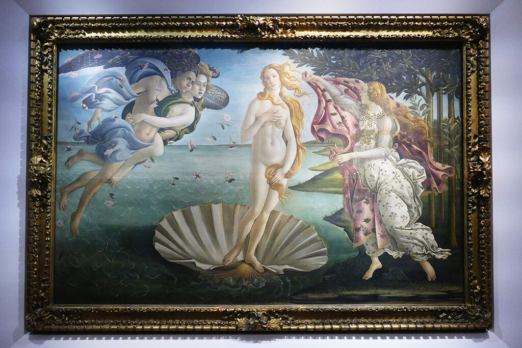 The Birth of Venus painted by Sandro Boticelli around 1485