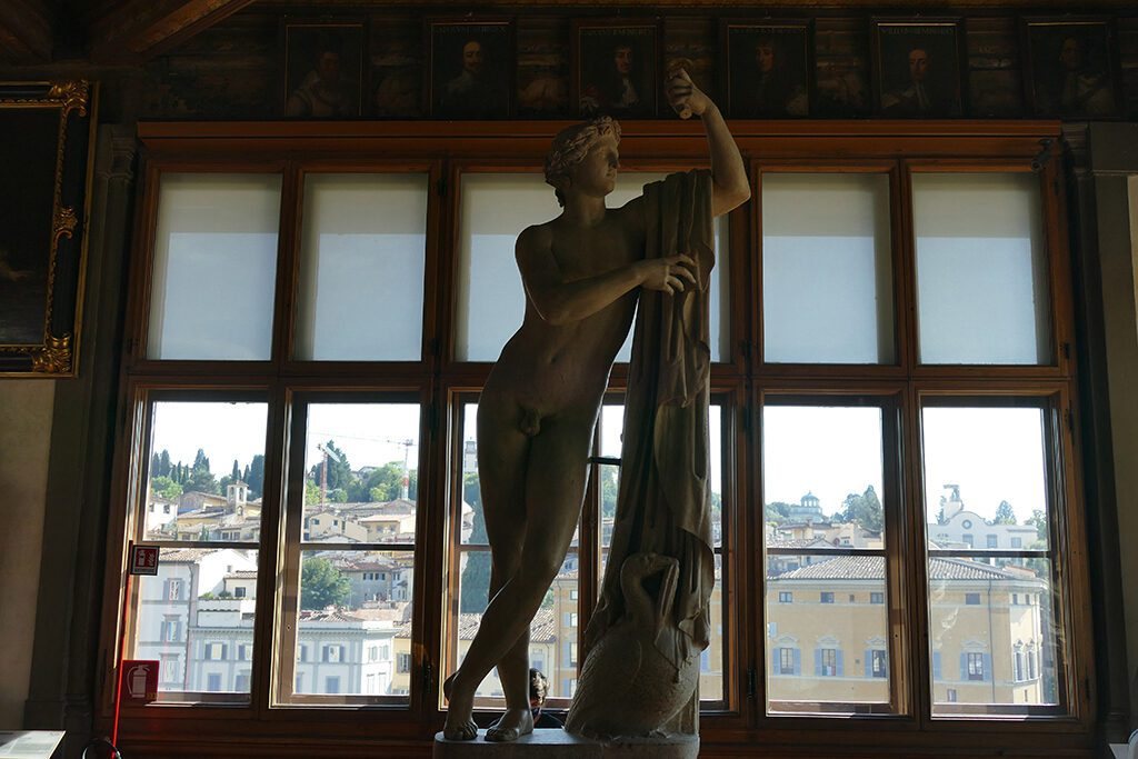 Sculpture at the Uffizi galleries in Florence, Home of the Medici, Cradle of the Renaissance