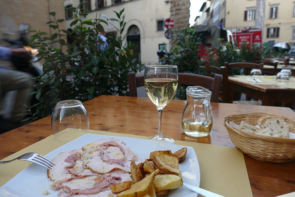 Food in Florence enjoyed while travelling solo